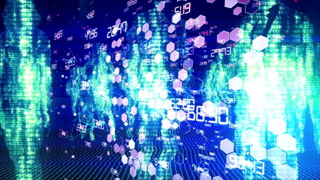 ビジネスシルエット - big data点の映像素材/bロール