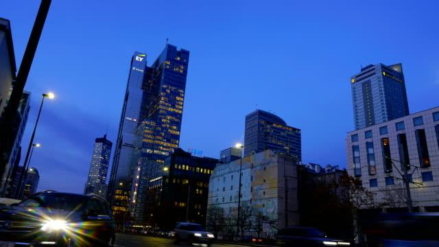business skyline warsaw - ocean avenue stock videos & royalty-free footage
