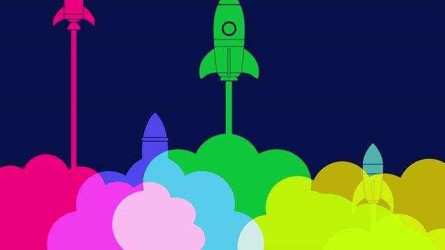 vidéos et rushes de lancement d'une fusée de démarrage d'entreprise - entrepreneur