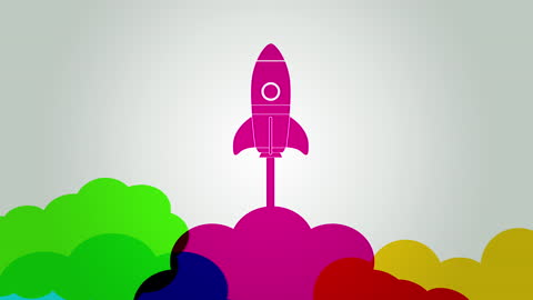 business startup rocket launch - symbol stock videos & royalty-free footage