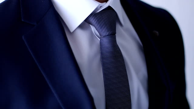 business suit with a tie - necktie stock videos & royalty-free footage