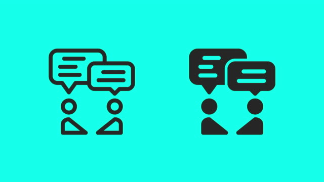 business talk icons - vector animate - global communications vector stock videos & royalty-free footage