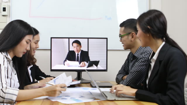 Business Team at Video Conference