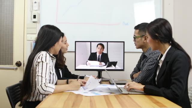ビデオ会議で事業チーム - カンファレンス点の映像素材/bロール