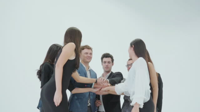 business team celebrate,slow motion - harmony stock videos & royalty-free footage