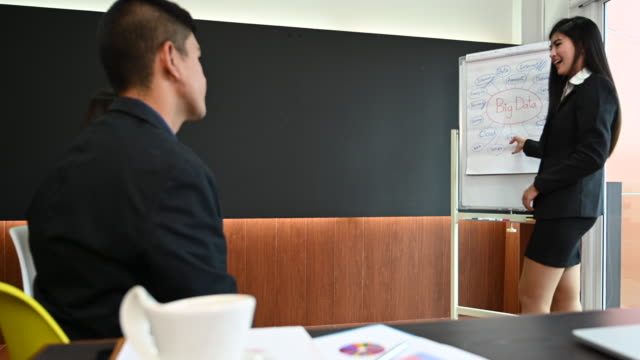 business team discussing and meeting in office - employee engagement stock videos & royalty-free footage