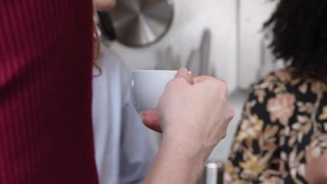business team having a coffee break - coffee break stock videos & royalty-free footage