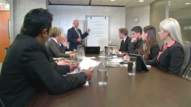 Business team meeting in a boardroom