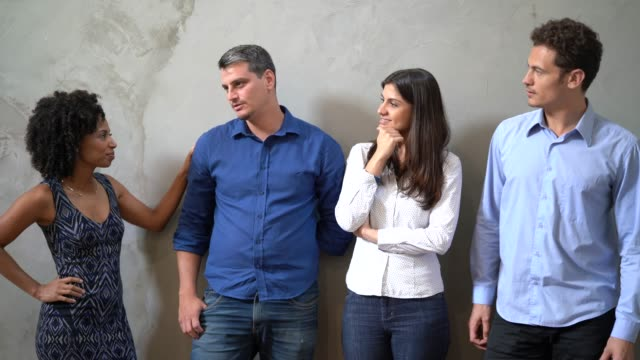 business team talking / job interview - pardo brazilian stock videos & royalty-free footage