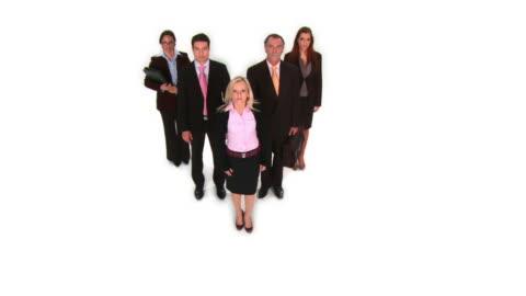 vidéos et rushes de grue haute définition: équipe d'affaires - collègue