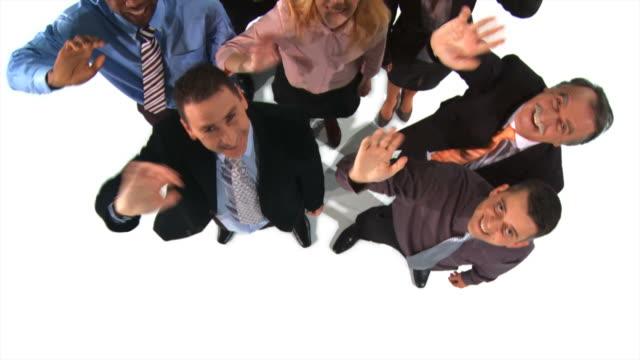 vídeos de stock e filmes b-roll de grou de hd: equipe de negócios a - camisa e gravata