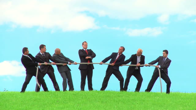 hd: business tug of war - rope stock videos & royalty-free footage