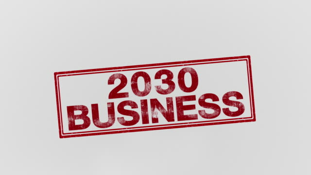 2030 business - annuncio economico video stock e b–roll