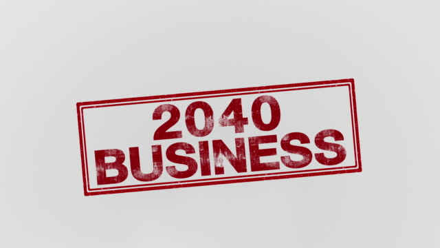 2040 business - annuncio economico video stock e b–roll