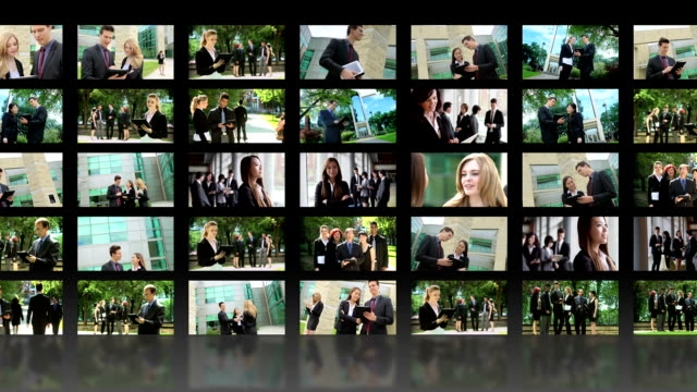 business-video wall - bildschirmwand stock-videos und b-roll-filmmaterial