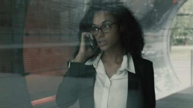 Business woman having discussion on cell phone