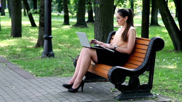 business woman making notes - skirt stock videos & royalty-free footage
