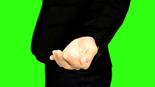business woman presenting with green screen background - keyable stock videos & royalty-free footage