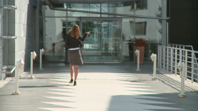 stockvideo's en b-roll-footage met hd dolly: business woman - bruin haar