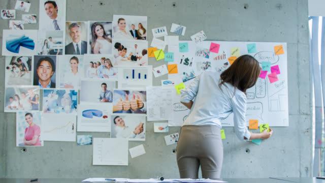 business-frau, die im büro  - strategy stock-videos und b-roll-filmmaterial