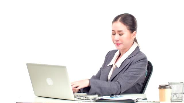 business woman yawning