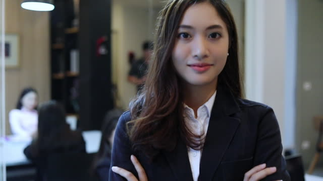 vídeos de stock e filmes b-roll de business women smiling happy for working - invertebrado