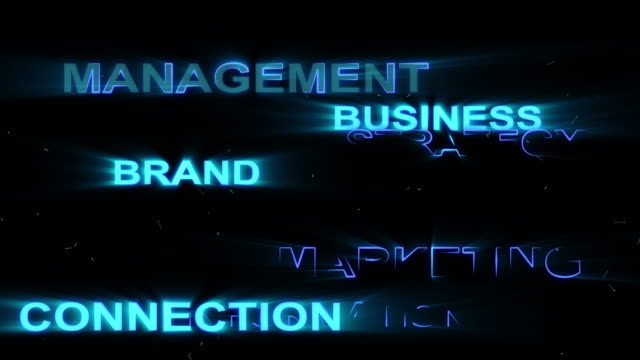 business word animation