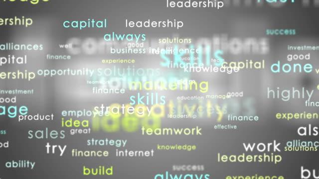 Business words Marketing