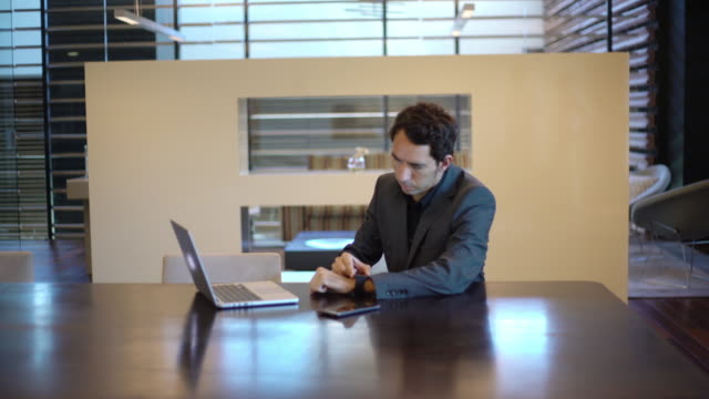 business young man working in the office - silvestre stock videos & royalty-free footage