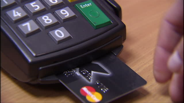 businesses are set to save millions as a cap on credit and debit card transaction fees comes into force the eu has imposed a limit on how much card... - fee stock videos and b-roll footage