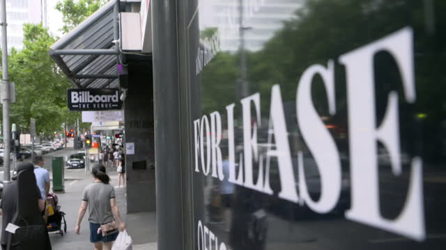 """businesses shut down in melbourne due to coronavirus lockdown and restrictions - """"bbc news"""" stock videos & royalty-free footage"""