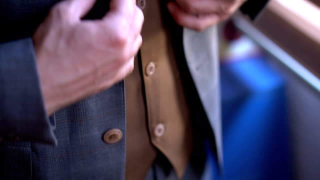 businessman adjusting his suit - elegance stock videos & royalty-free footage