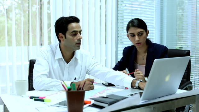 businessman and businesswomen discussing, delhi, india - employee engagement stock videos & royalty-free footage