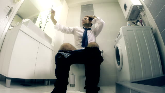 businessman and selfie - toilet stock videos and b-roll footage