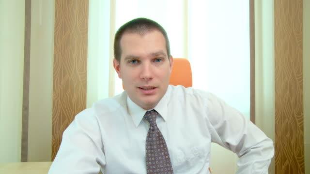 HD: Geschäftsmann in einem Video Conference