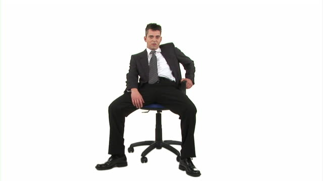 hd: businessman behaving inappropriately - chair stock videos & royalty-free footage