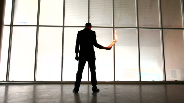 businessman burning his document - cv stock videos & royalty-free footage