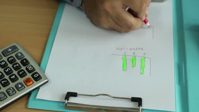 vídeos de stock e filmes b-roll de empresário calcular os dados do escritório - home economics