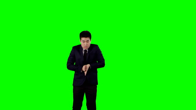 businessman dancing. crazy break at work. green screen with alpha - modern dancing stock videos & royalty-free footage