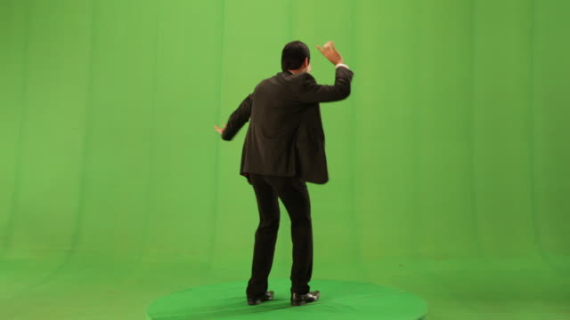 businessman dancing  - chroma key stock-videos und b-roll-filmmaterial