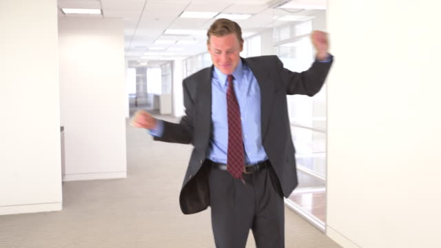 businessman dancing