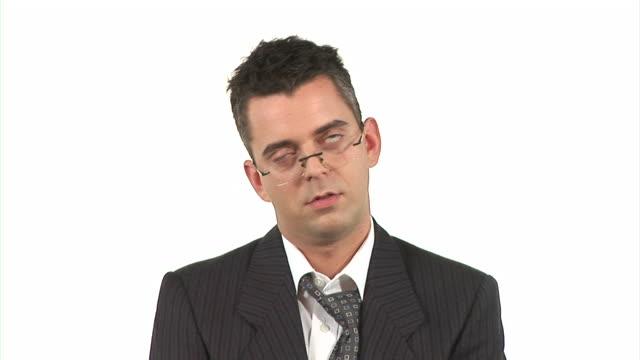 HD: Businessman Dozing Off