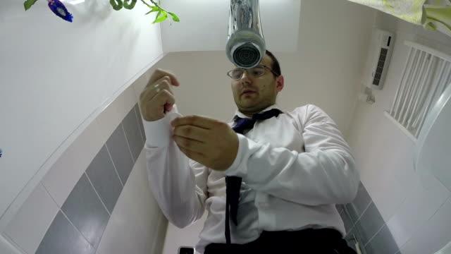 Businessman Dressing For Work