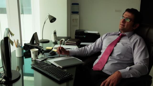 businessman drinking tea in an office  - formal businesswear stock videos & royalty-free footage