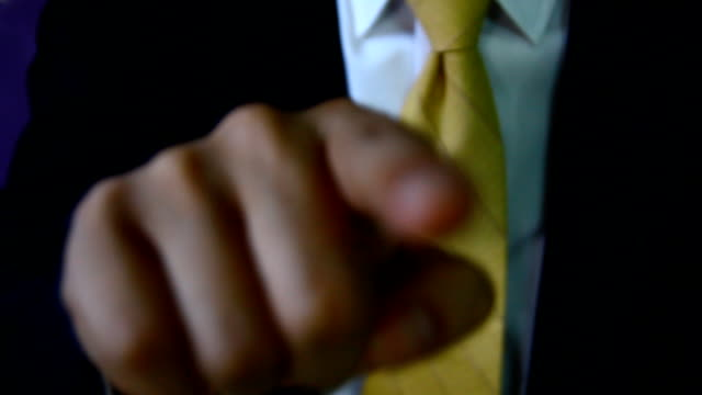 businessman finger point order to your - index finger stock videos & royalty-free footage