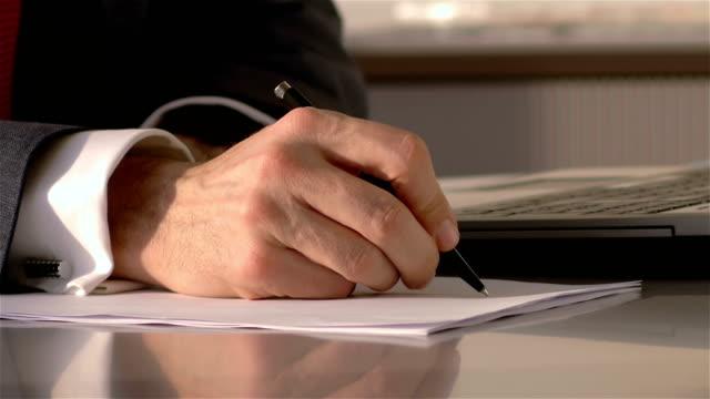 businessman form filling - 4k resolution - avvocato video stock e b–roll