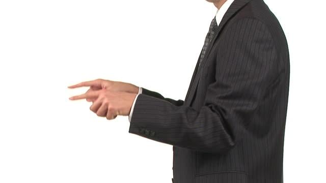 vídeos de stock, filmes e b-roll de hd: empresário gesticulating - camisa e gravata