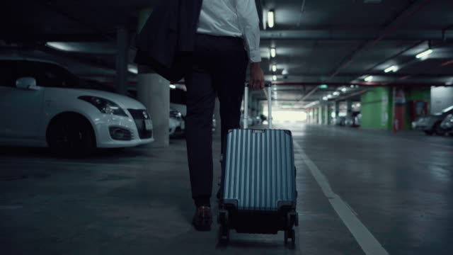 businessman go back home on a airport after worked - button down shirt stock videos & royalty-free footage