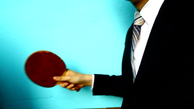 businessman hand play table tennis - table tennis stock videos and b-roll footage