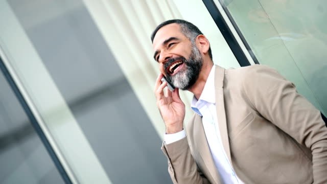 Businessman having a personal phone call